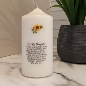 🆕 Unscented White Pillar Candle